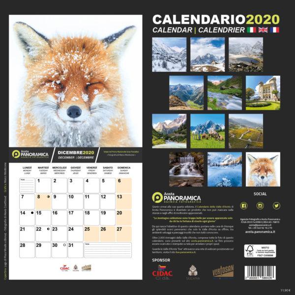 Calendario Valle d'Aosta 202025